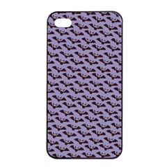 Bat Halloween Lilac Paper Pattern Apple Iphone 4/4s Seamless Case (black) by Celenk