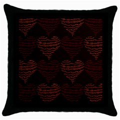 Heart Seamless Background Figure Throw Pillow Case (black) by Celenk