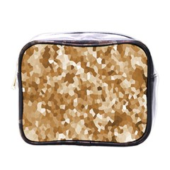 Texture Background Backdrop Brown Mini Toiletries Bags by Celenk