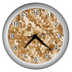 Texture Background Backdrop Brown Wall Clocks (silver)  by Celenk
