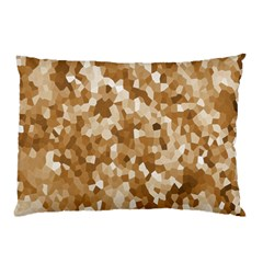 Texture Background Backdrop Brown Pillow Case (two Sides)