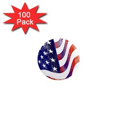 Usa Flag America American 1  Mini Magnets (100 Pack)  by Celenk