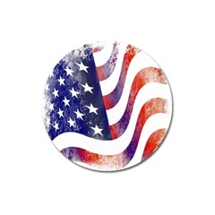 Usa Flag America American Magnet 3  (round) by Celenk