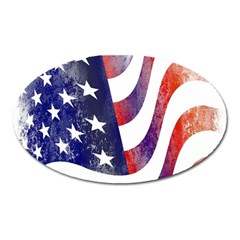Usa Flag America American Oval Magnet by Celenk