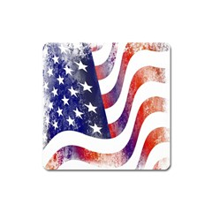 Usa Flag America American Square Magnet by Celenk