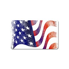 Usa Flag America American Magnet (name Card) by Celenk