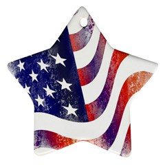 Usa Flag America American Star Ornament (two Sides) by Celenk