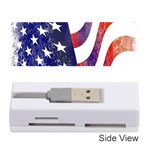 Usa Flag America American Memory Card Reader (Stick)  Front