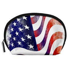 Usa Flag America American Accessory Pouches (large)  by Celenk