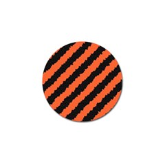 Black Orange Pattern Golf Ball Marker (4 Pack)