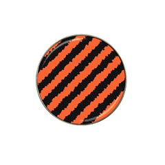 Black Orange Pattern Hat Clip Ball Marker