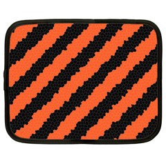 Black Orange Pattern Netbook Case (xl)