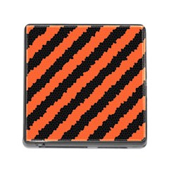 Black Orange Pattern Memory Card Reader (square)