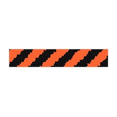 Black Orange Pattern Flano Scarf (mini) by Celenk