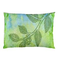 Green Leaves Background Scrapbook Pillow Case (two Sides)