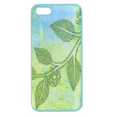 Green Leaves Background Scrapbook Apple Seamless Iphone 5 Case (color) by Celenk