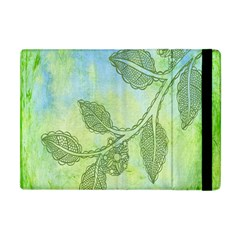 Green Leaves Background Scrapbook Apple Ipad Mini Flip Case by Celenk