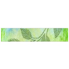 Green Leaves Background Scrapbook Small Flano Scarf by Celenk