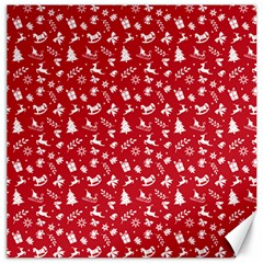 Red Christmas Pattern Canvas 16  X 16   by patternstudio