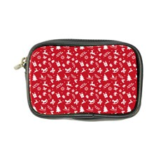 Red Christmas Pattern Coin Purse by patternstudio