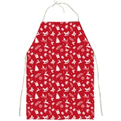 Red Christmas Pattern Full Print Aprons by patternstudio