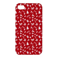 Red Christmas Pattern Apple Iphone 4/4s Hardshell Case by patternstudio