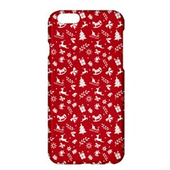 Red Christmas Pattern Apple Iphone 6 Plus/6s Plus Hardshell Case by patternstudio