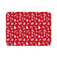 Red Christmas Pattern Double Sided Flano Blanket (mini)  by patternstudio