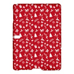 Red Christmas Pattern Samsung Galaxy Tab S (10 5 ) Hardshell Case  by patternstudio