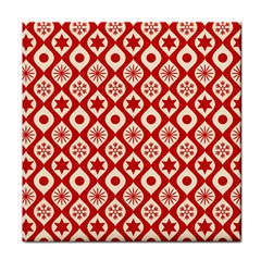 Ornate Christmas Decor Pattern Tile Coasters by patternstudio
