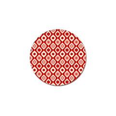 Ornate Christmas Decor Pattern Golf Ball Marker (4 Pack) by patternstudio