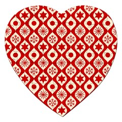 Ornate Christmas Decor Pattern Jigsaw Puzzle (heart) by patternstudio