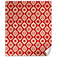 Ornate Christmas Decor Pattern Canvas 8  X 10  by patternstudio