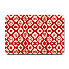 Ornate Christmas Decor Pattern Small Doormat  by patternstudio