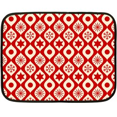 Ornate Christmas Decor Pattern Double Sided Fleece Blanket (mini)  by patternstudio