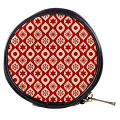 Ornate Christmas Decor Pattern Mini Makeup Bags by patternstudio