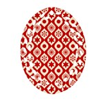 Ornate Christmas Decor Pattern Ornament (Oval Filigree) Front