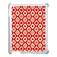 Ornate Christmas Decor Pattern Apple Ipad 3/4 Case (white) by patternstudio