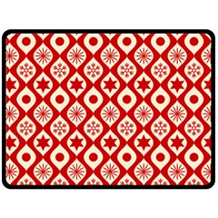 Ornate Christmas Decor Pattern Double Sided Fleece Blanket (large)  by patternstudio