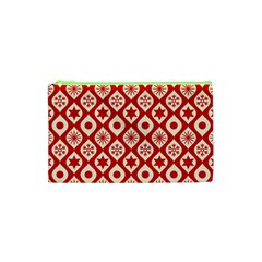 Ornate Christmas Decor Pattern Cosmetic Bag (xs)