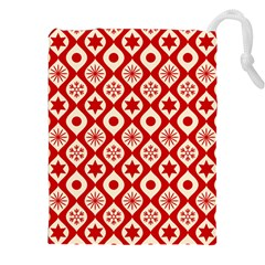 Ornate Christmas Decor Pattern Drawstring Pouches (xxl) by patternstudio