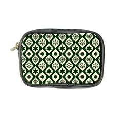 Green Ornate Christmas Pattern Coin Purse by patternstudio
