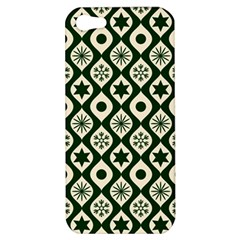 Green Ornate Christmas Pattern Apple Iphone 5 Hardshell Case by patternstudio