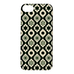 Green Ornate Christmas Pattern Apple Iphone 5s/ Se Hardshell Case by patternstudio
