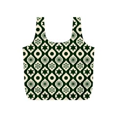 Green Ornate Christmas Pattern Full Print Recycle Bags (s)