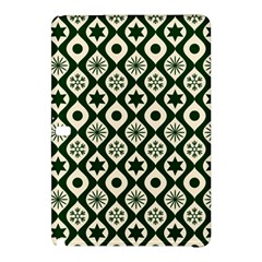 Green Ornate Christmas Pattern Samsung Galaxy Tab Pro 12 2 Hardshell Case by patternstudio