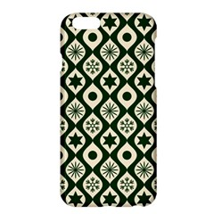 Green Ornate Christmas Pattern Apple Iphone 6 Plus/6s Plus Hardshell Case by patternstudio