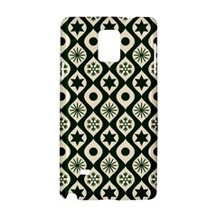 Green Ornate Christmas Pattern Samsung Galaxy Note 4 Hardshell Case by patternstudio