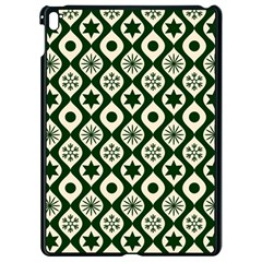 Green Ornate Christmas Pattern Apple Ipad Pro 9 7   Black Seamless Case by patternstudio