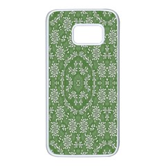 Art Pattern Design Holiday Color Samsung Galaxy S7 White Seamless Case by Celenk